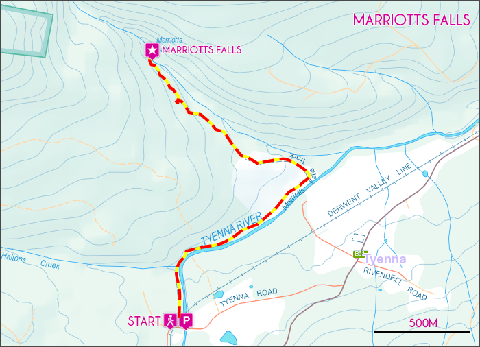 Marriotts Falls Map