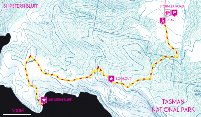 Shipstern Bluff Map