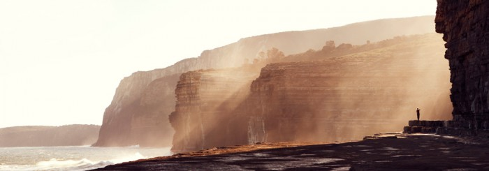 Shipstern Bluff, late afternoon sun