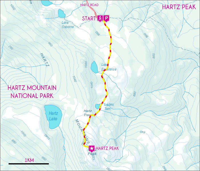 Hartz Peak Map
