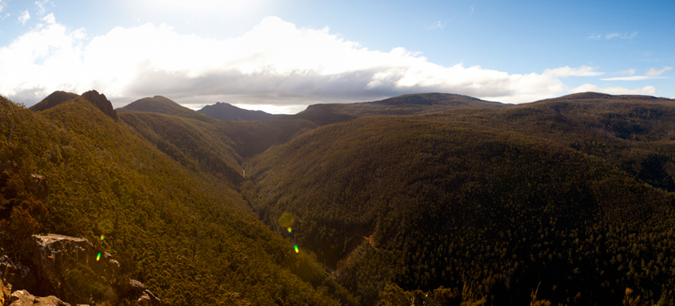 View towards Mount Wellington from Cathedral Rock