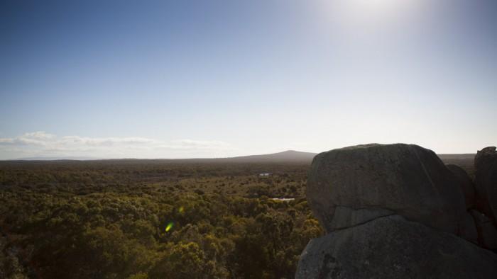 View towards Mount Williams