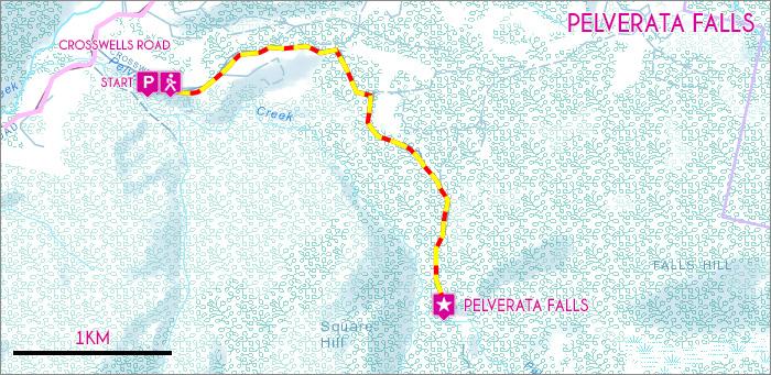Pelverata Falls Map