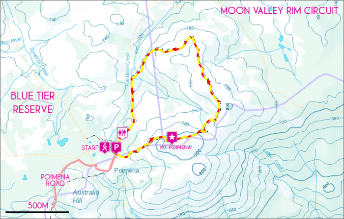 Moon Valley Rim Map
