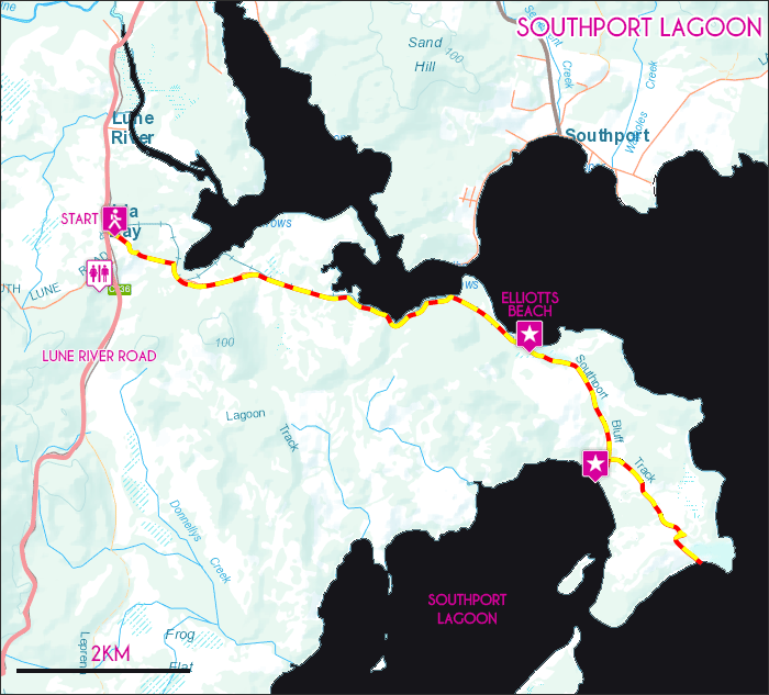 Southport Lagoon Map