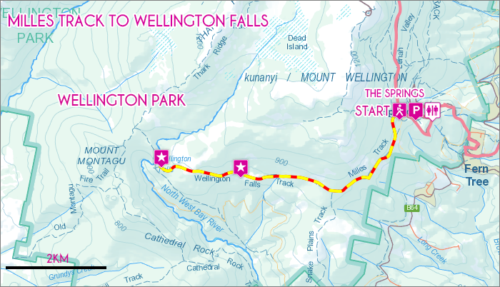 Milles Track to Wellington Falls