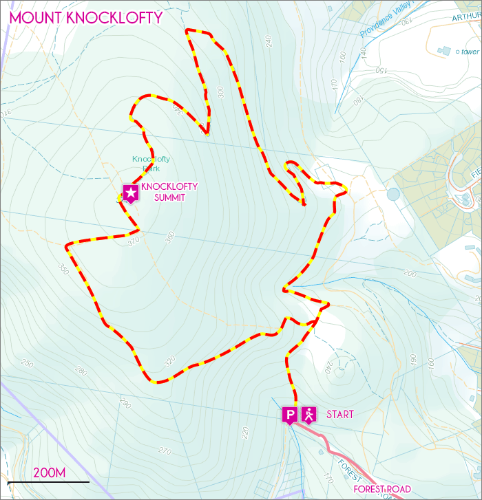 Mount Knocklofty Map