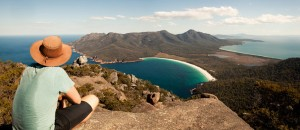 View of Wineglass Bay from Mount Amos