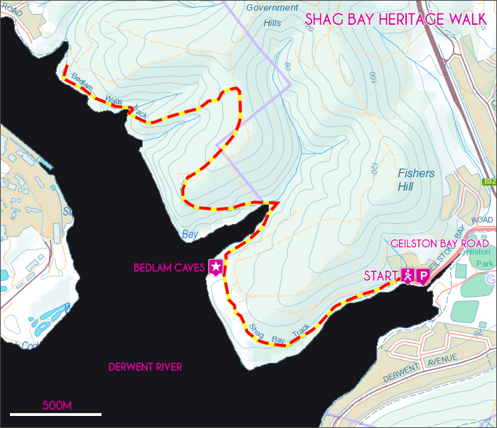 Shag Bay Map