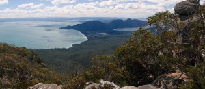 View from Mount Freycinet