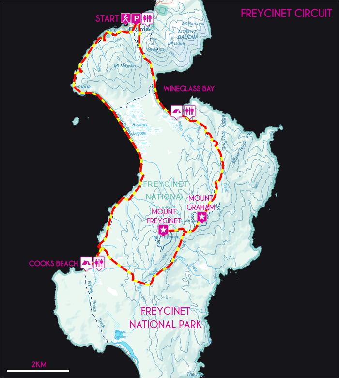 Freycinet Circuit Map