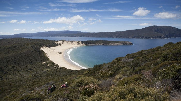 View towards Crescent Bay from Mount Brown