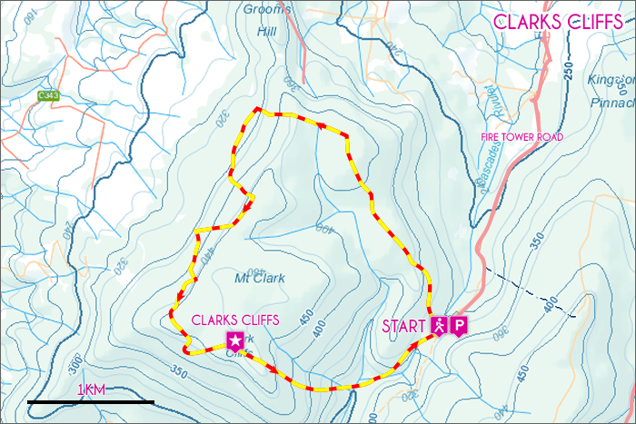 Clarks Cliffs Map