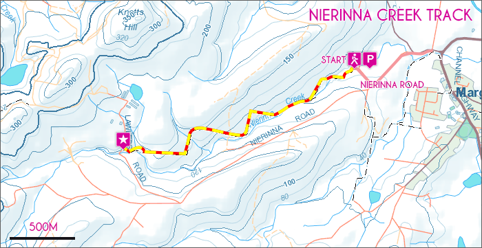 Nierinna Creek Map