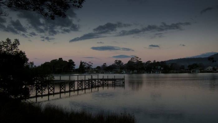 Prosser River at dusk