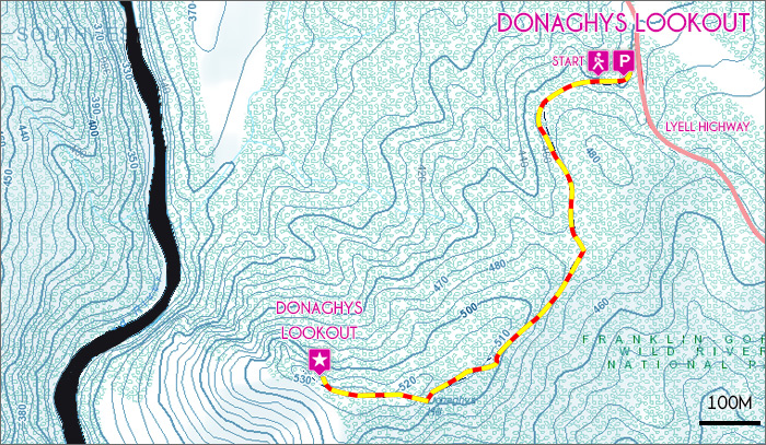 Donaghys Lookout Map