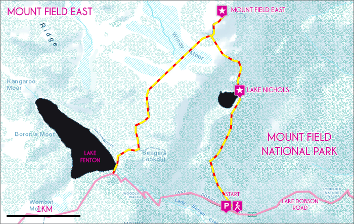 Mount Field East Map