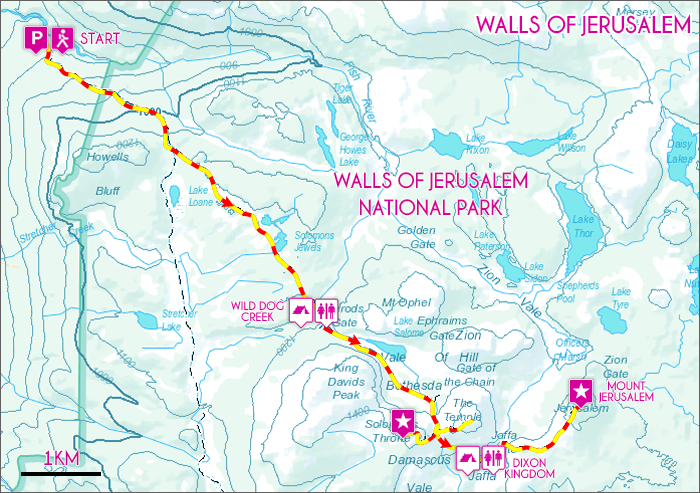 Walls of Jerusalem Map