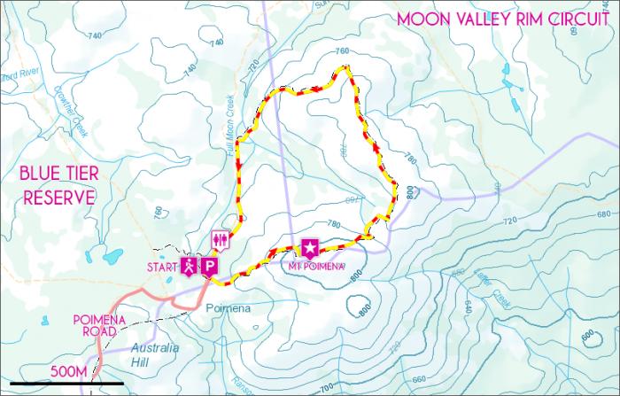 Moon Valley Rim Map