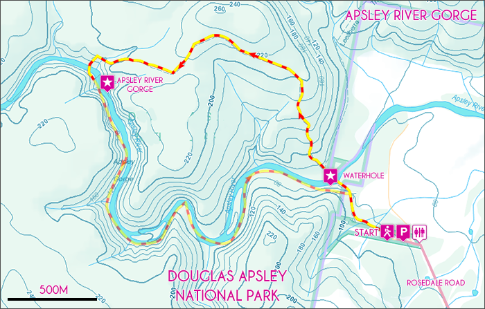Apsley River Gorge Map
