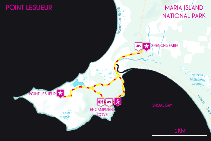 Point Lesueur Map