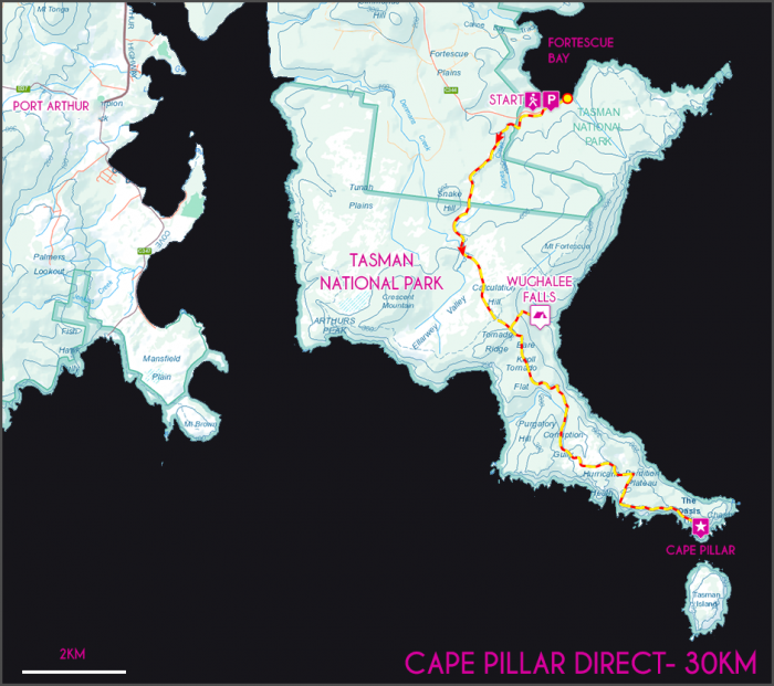 Cape Pillar Map