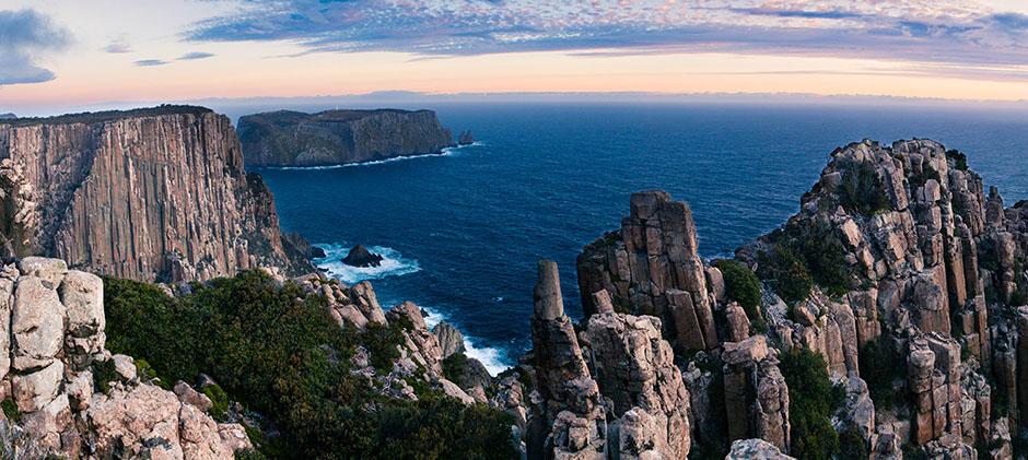 Cape Pillar at dawn