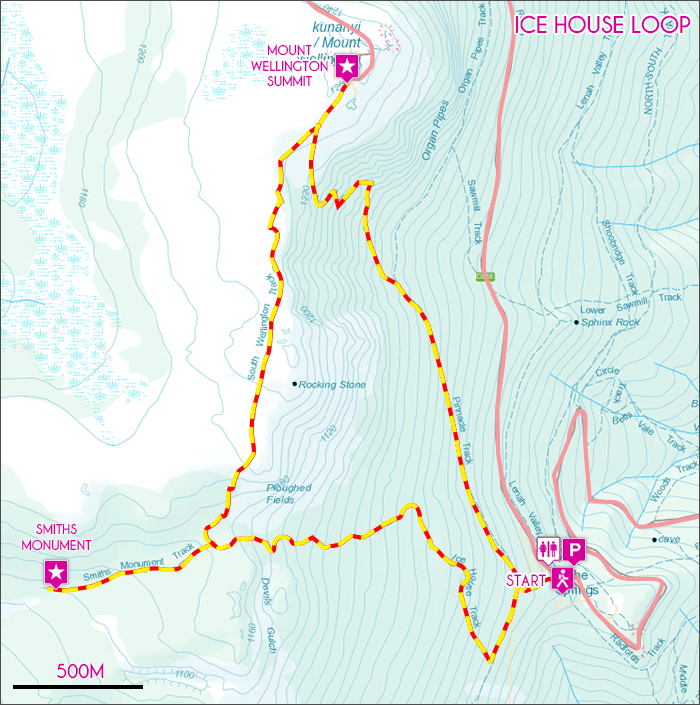 Ice House Loop Map