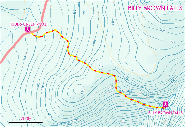 Billy Brown Falls Map