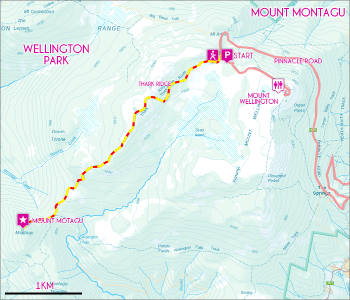 Mount Montagu Map