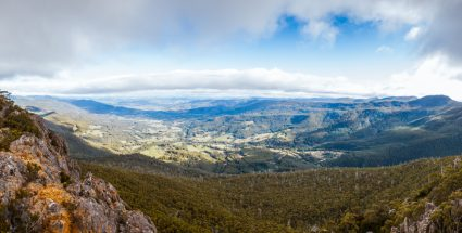 View of Huon Valley from Mount Montague