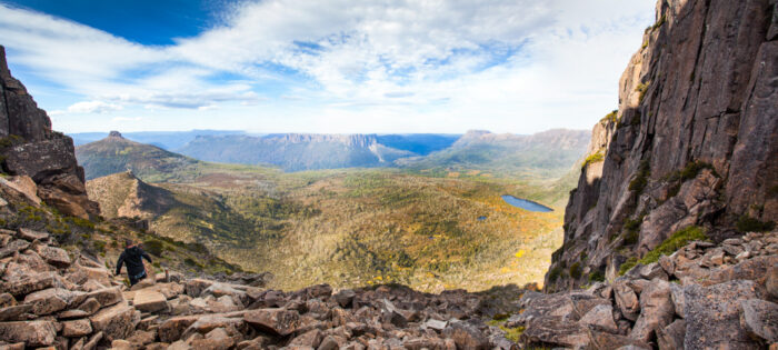 The view climbing Mount Ossa